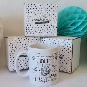 Mug cadeau personnalisé - Chouette marraine