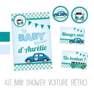 kit-baby-shower-voiture-rétro