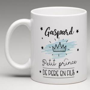 mug personnalisé, petit prince de pére en fils