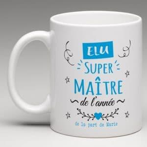 elu super maître de l'année, mug personnalisé