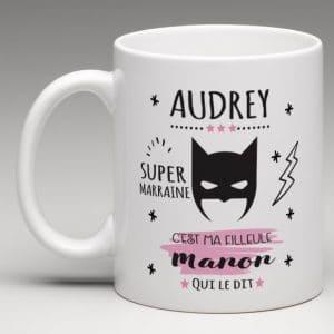 super marraine mug personnalisé