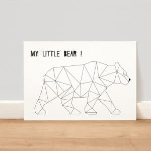 Affiche bear le monde de bibou