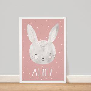Affiche personnalisée lapin
