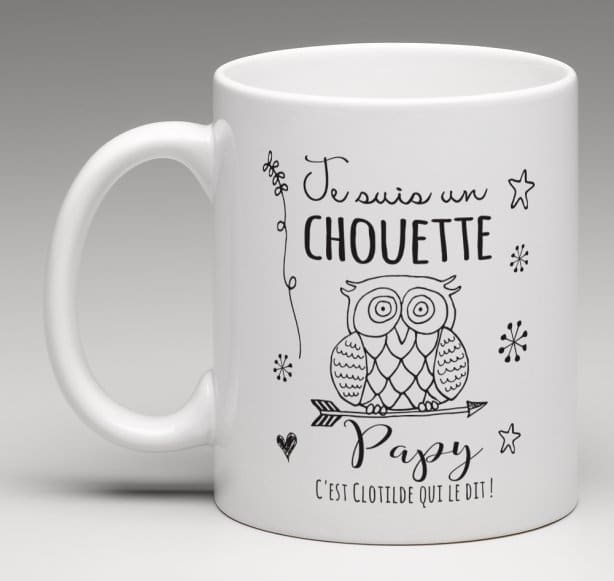 mug cadeau personnalis pour un chouette papy. Black Bedroom Furniture Sets. Home Design Ideas