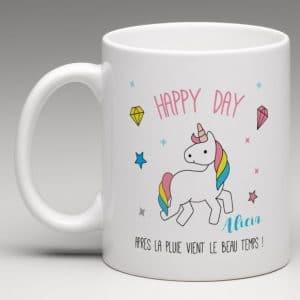 mug licorne personnalisé