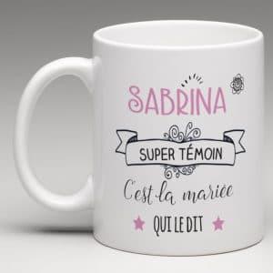 "mug "" super témoin"""