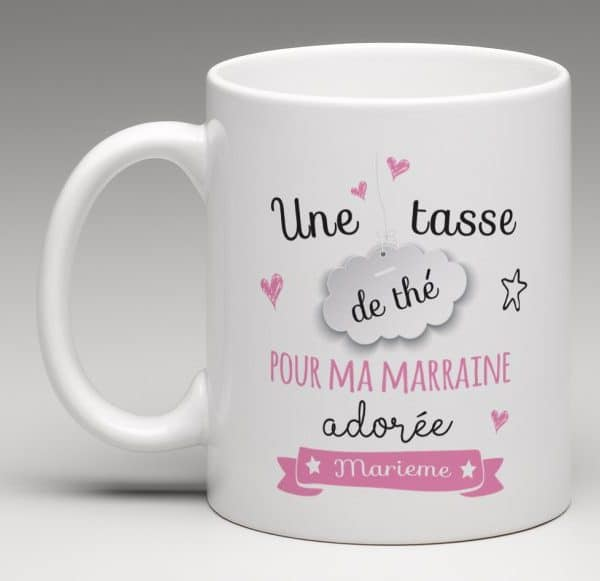 mug cadeau personnalis une tasse de th pour ma marraine. Black Bedroom Furniture Sets. Home Design Ideas
