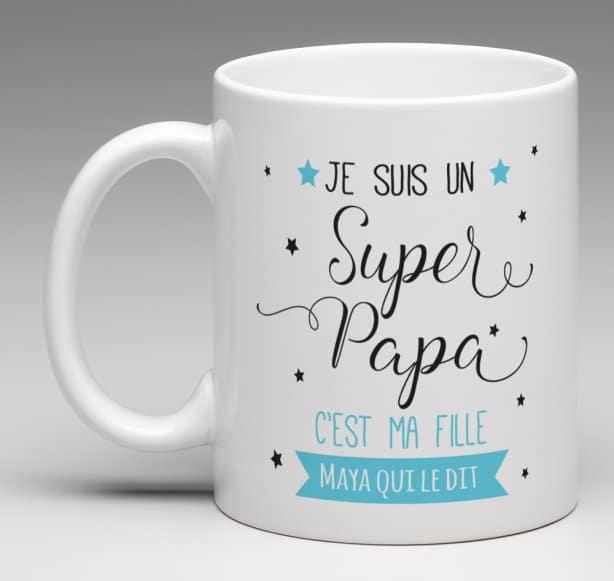 mug cadeau personnalis pour un papa th me super papa. Black Bedroom Furniture Sets. Home Design Ideas