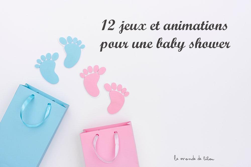 12 jeux et animations pour une baby shower