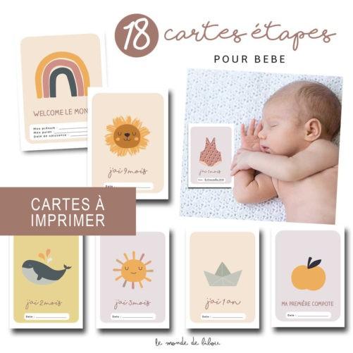 Cartes étapes bébé à imprimer