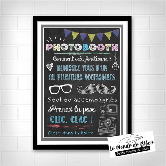 Affiche tableau photobooth