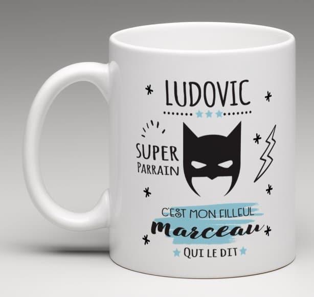 Mug personnalisé Super parrain