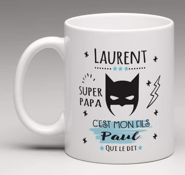 Mug personnalisé Super papa
