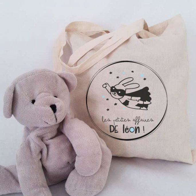 Tote bag enfant Super lapin