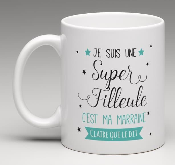 Mug Super filleul(e) version marraine