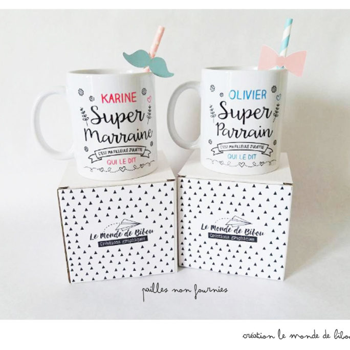 Duo Mugs Parrain Marraine