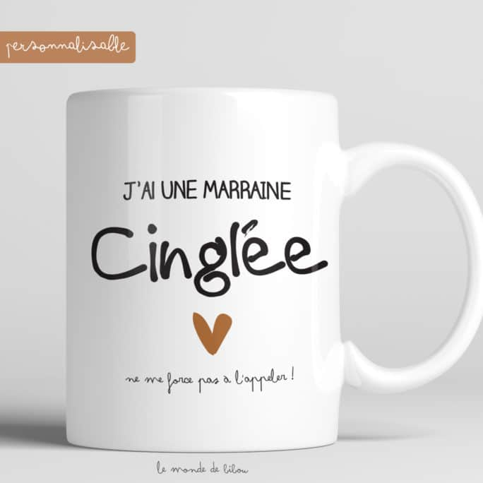 Mug personnalisé Marraine cinglée