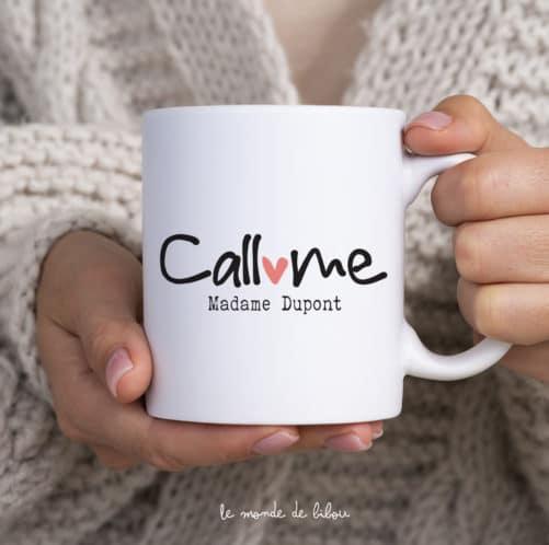 Mug Call me madame