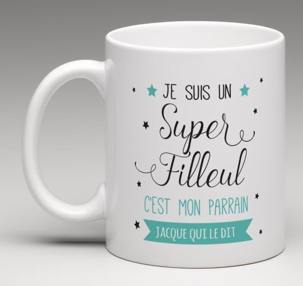 Mug Super filleul(e) version parrain