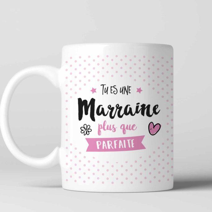 mug pour une marraine plus que parfait. A offrir lors d'un Baptême ou d'une communion
