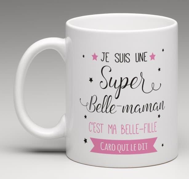 mug cadeau personnalis pour une super belle maman. Black Bedroom Furniture Sets. Home Design Ideas