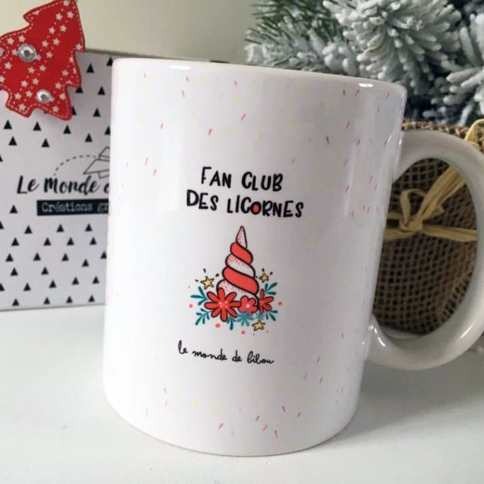 Mug de Noël Ma licorne le dit