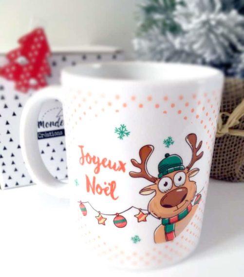 Mug cadeau Renne de Noël