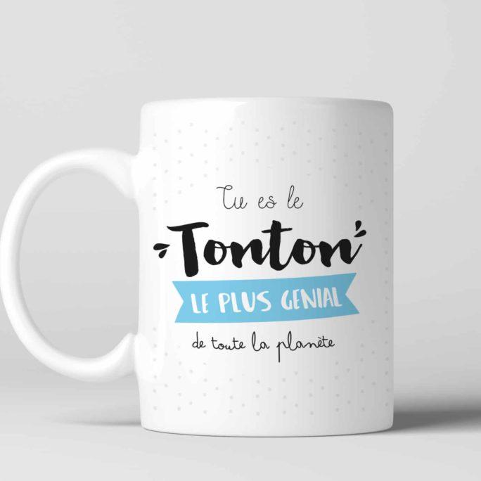 Mug cadeau Tonton le plus génial