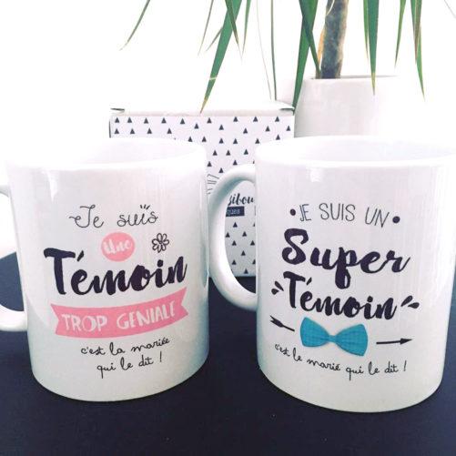 mugs cadeaux pour super témoins