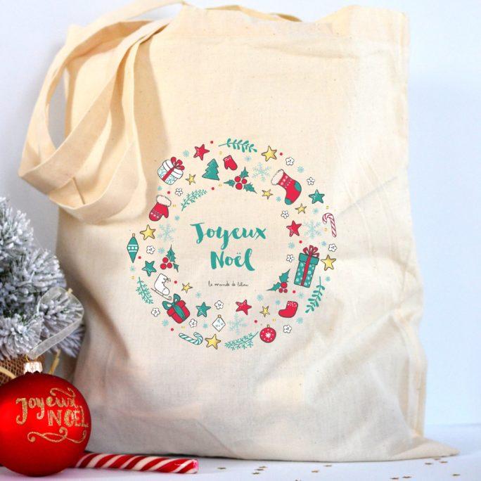 Tote bag Couronne Joyeux Noël