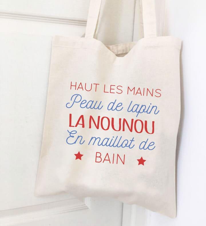 Cadeaux nounou, sac tote bag