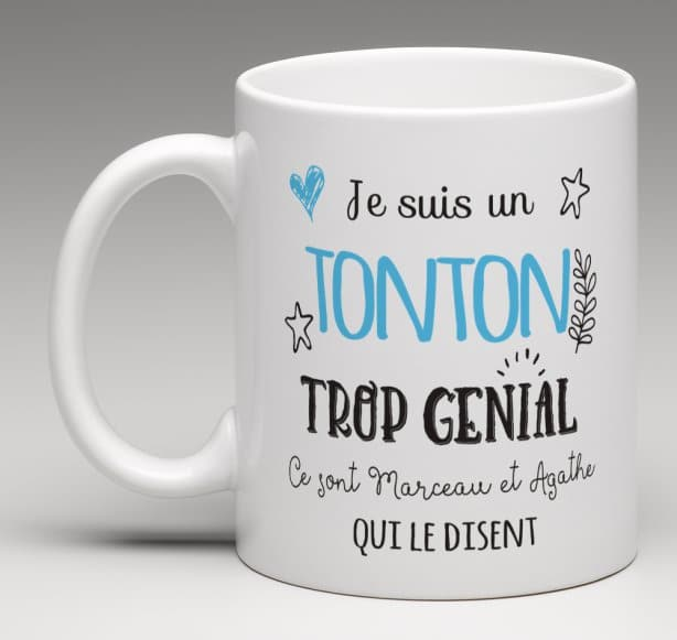 mug tasse cadeau personnalis pour un tonton trop g nial. Black Bedroom Furniture Sets. Home Design Ideas