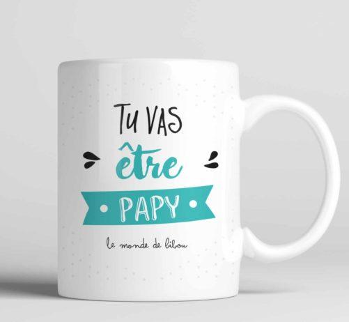 Mug cadeau Tu vas être papy