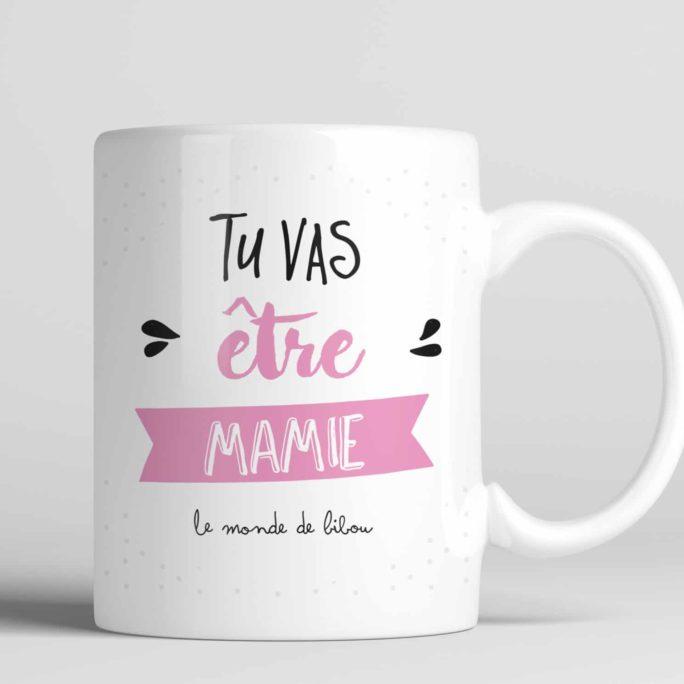 Mug cadeau Tu vas être mamie
