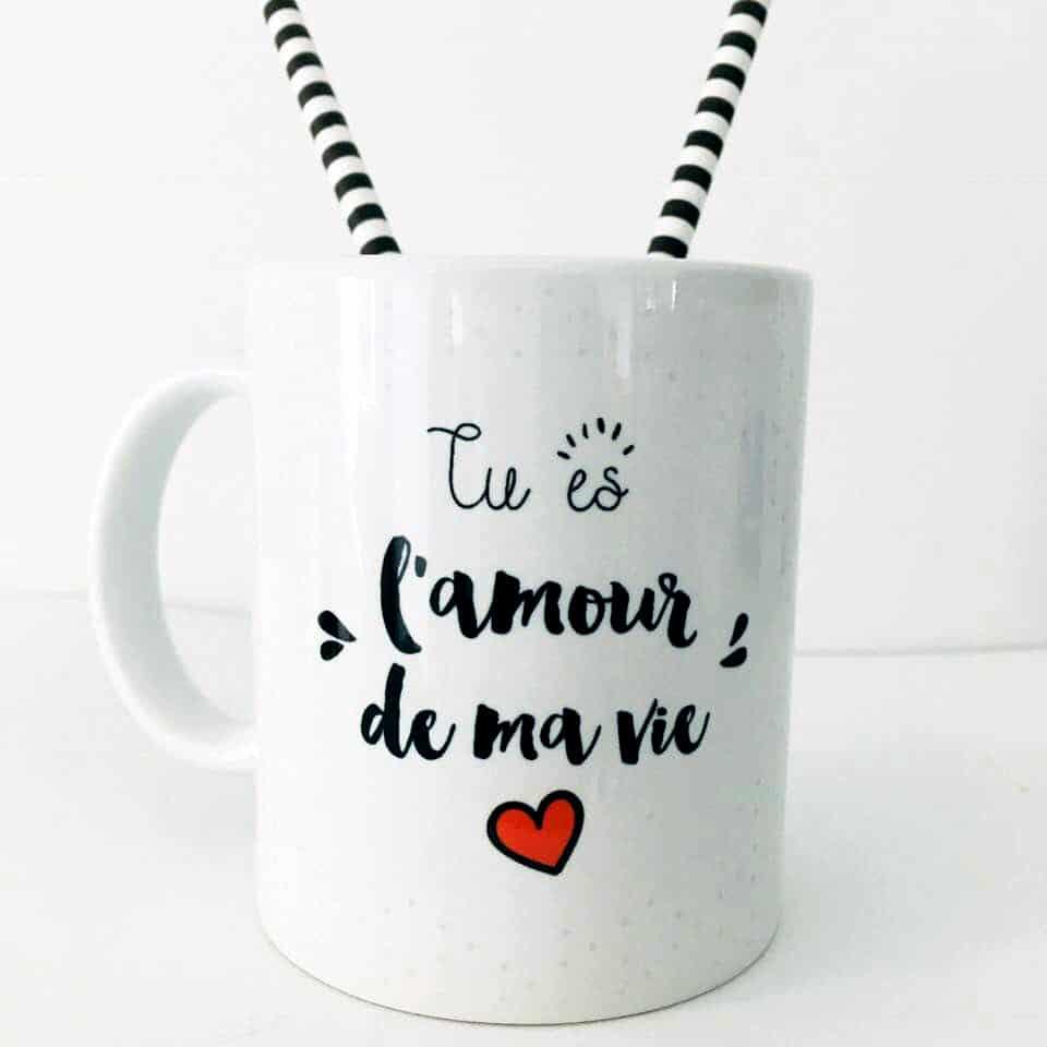Mug Cadeau Tu Es L Amour De Ma Vie Impression Recto Verso