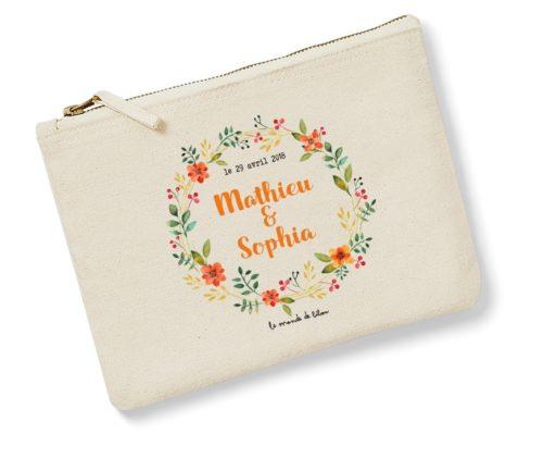 Pochette Mariage Couronne de fleurs