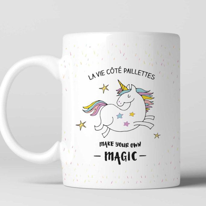 Mug La vie côté paillettes
