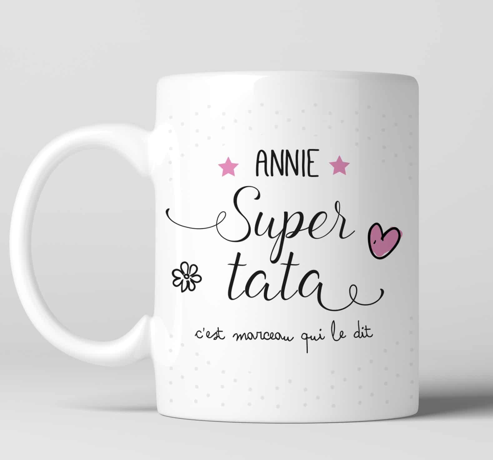 Rectoverso Mug Super Personnalisé Impression Tata VGqUMpSz