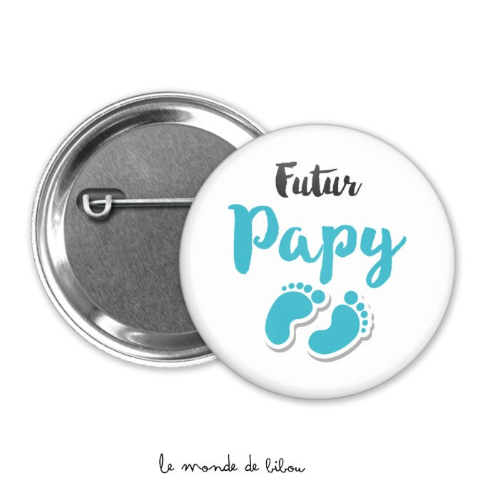 Badge annonce Futur papy