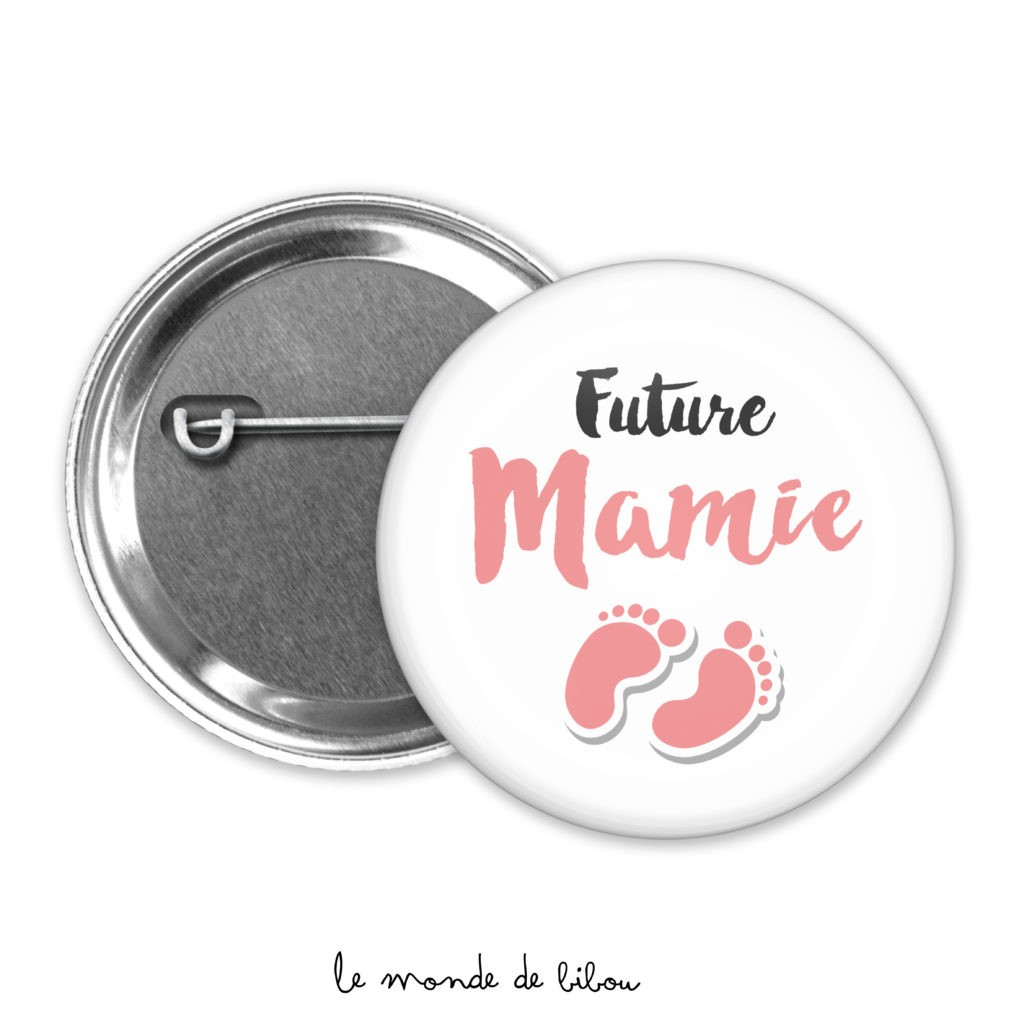 Badge annonce Future mamie