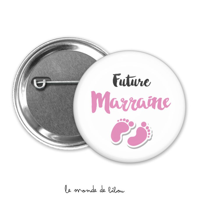 Badge annonce Future marraine