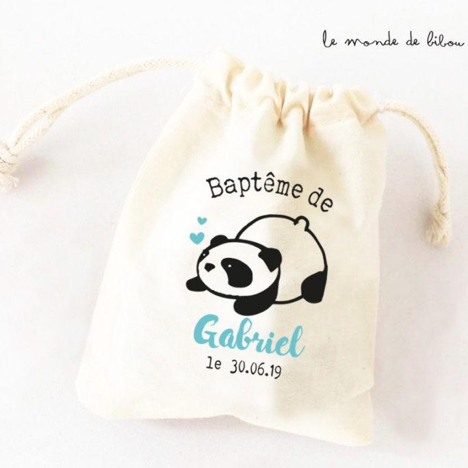 Sac ballotin dragées Panda