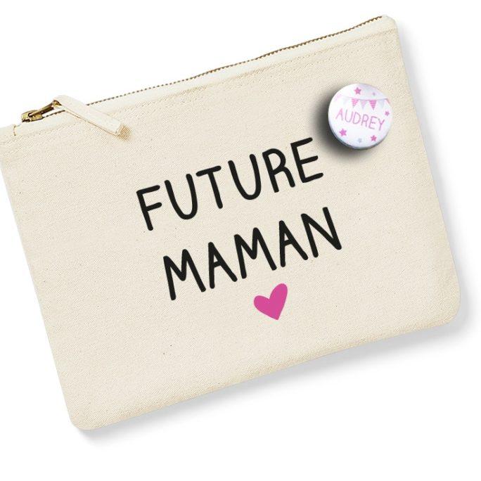 Pochette Future Maman avec badge