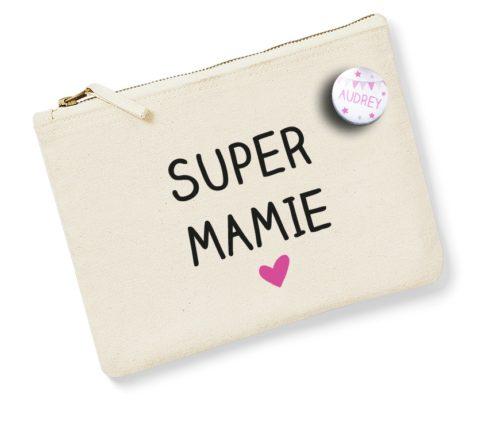 Pochette Badge Super mamie
