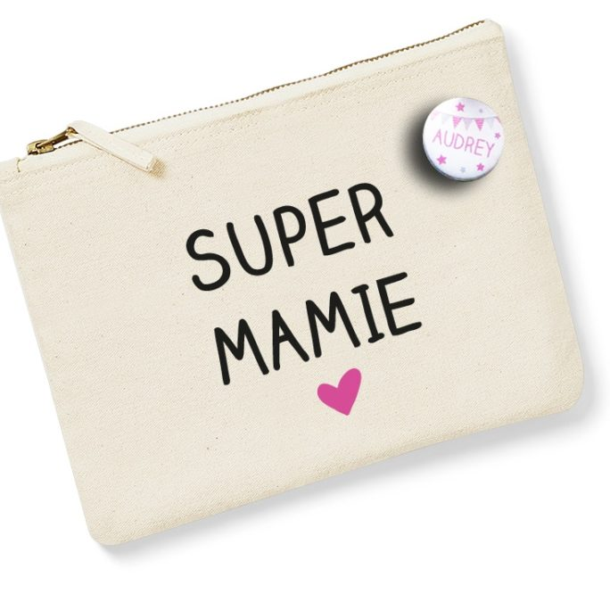 Pochette Badge Super mamie