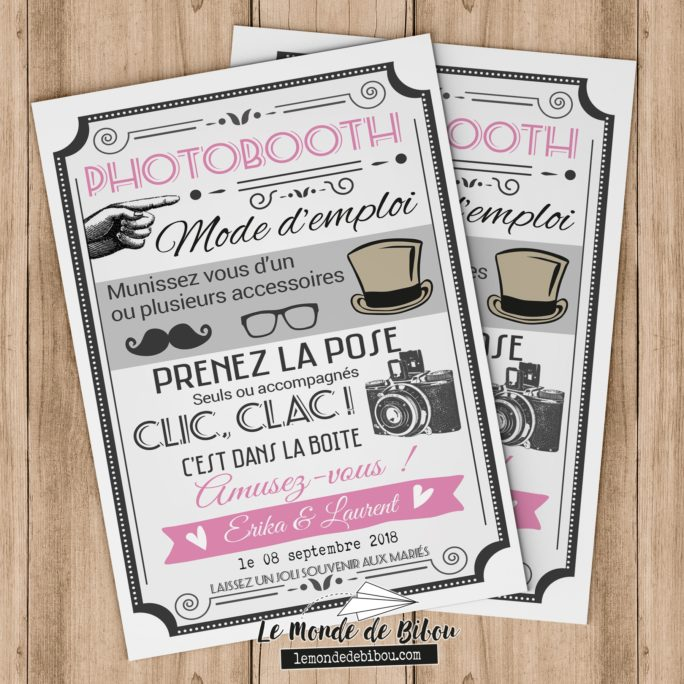 Affiche notice photobooth