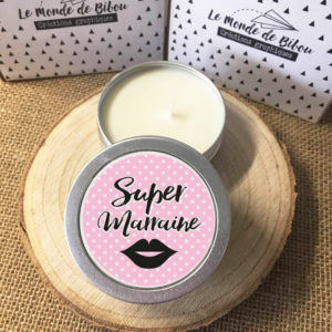 Lot de 2 bougies Super Parrain Marraine