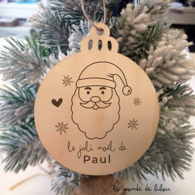 Boule personnalisée Père Noël