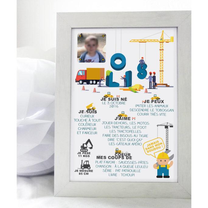 Affiche anniversaire Thème Chantier