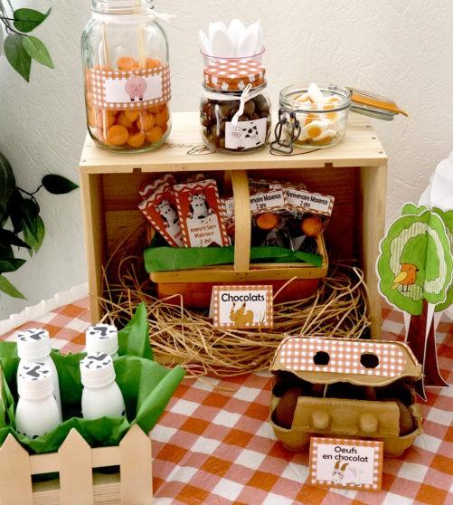 Kit anniversaire sweet table sûr-mesure